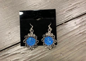 Blue Hanging Decorative Earring