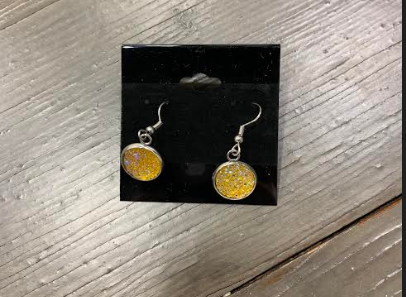 Yellow Blingy Hanging Earring