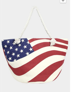 USA Flag Beach Tote Bag