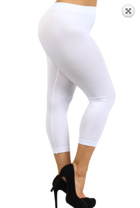 White High Waist Legging
