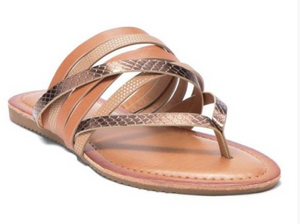 Tan Slipper Sandals