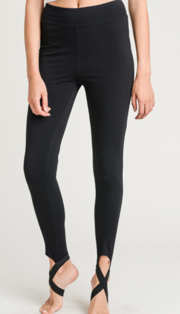 Black Stirrup Legging