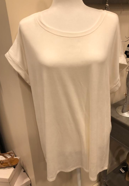 Off White Drop Shoulder Tunic