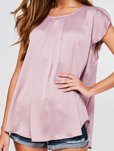 Lilac Tulip Sleeve Blouse