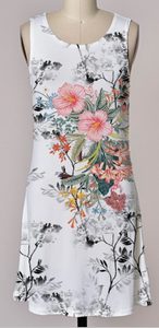 Sleeveles Printed Dress