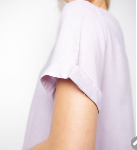 Lavender Round Neck Top