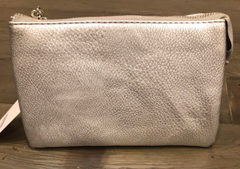 Metallic Silver 3 Section Clutch