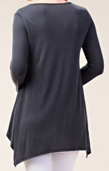 Charcoal Long Sleeve with Stones