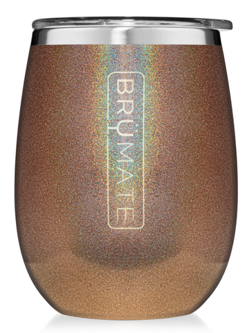 14 oz Wine Tumbler Glitter Gold