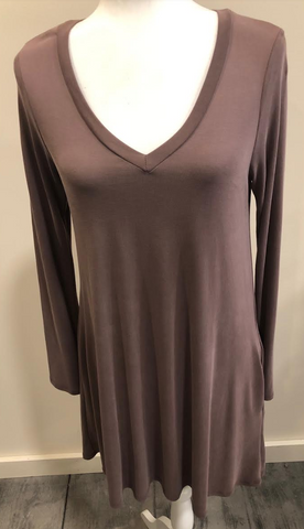 Dusty Purple Long Sleeve Dress