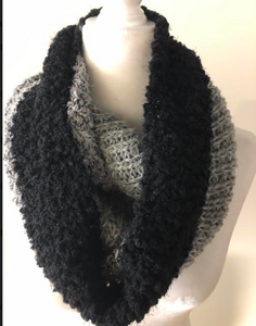 Black/Gray Color Block Scarf
