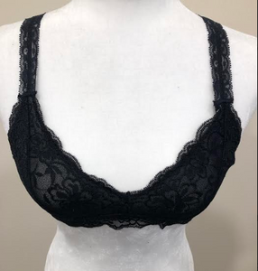 Black Racer Back Bralette