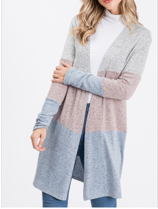 Color Block Hacci Cardigan