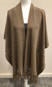 Tan Knit Cape