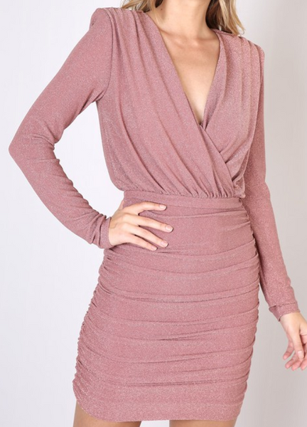 Rose Gold Wrap Style Dress