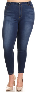 Cropped High Waisted Skinny Jeans