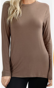 Mocha Long Sleeve T-Shirt