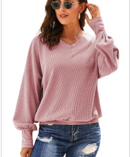 Pink Ladies Long Loose Sweatshirt