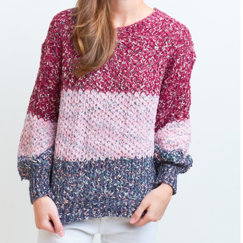 Burgundy Speckled solid sweater