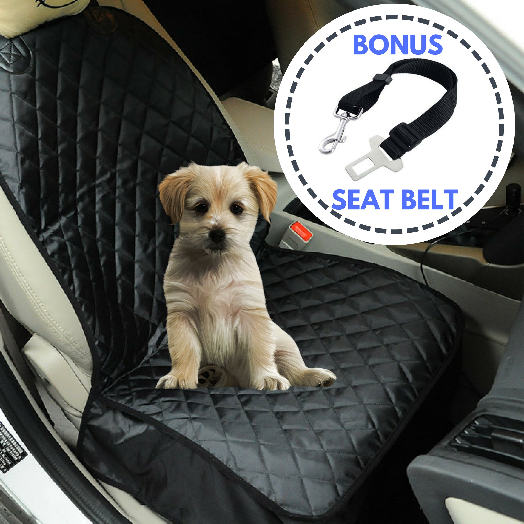 Load Image Into Gallery Viewer Waterproof Pet Car Seat Protector Cover With BONUS Belt