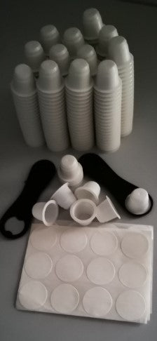 Set of 150 Capsul'in Biodegradable & Compostable Empty Capsules and lids + 1 Kg of the Unique Bristot Rainforest Alliance Organic Coffee Perfectly Ground Ready to Go!