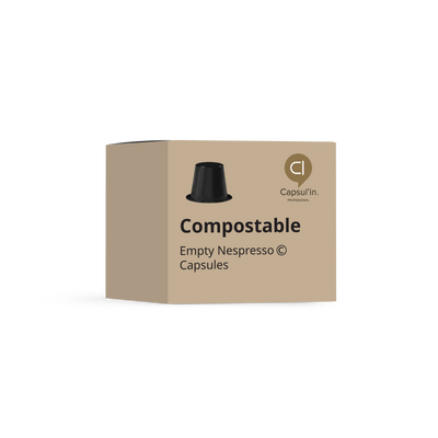 Bulk carton of 8,100 empty Capsul'in V1 Biodegradable & Compostable capsules