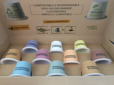 Carton of 6,728 Capsul'in IML Compostable Empty Capsules