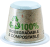 1,200 Empty Capsul'in Compostable Capsules + 1,200 Self Adhesive Compostable Paper Lids