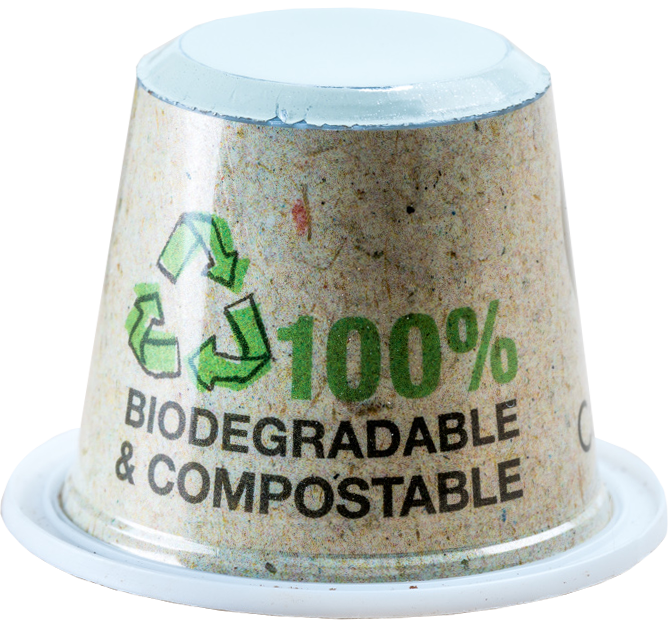1,200 Capsul'in Compostable Capsules + 1,200 Compostable lids