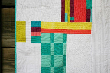 Neon Threads Baby Quilt + Free Shipping