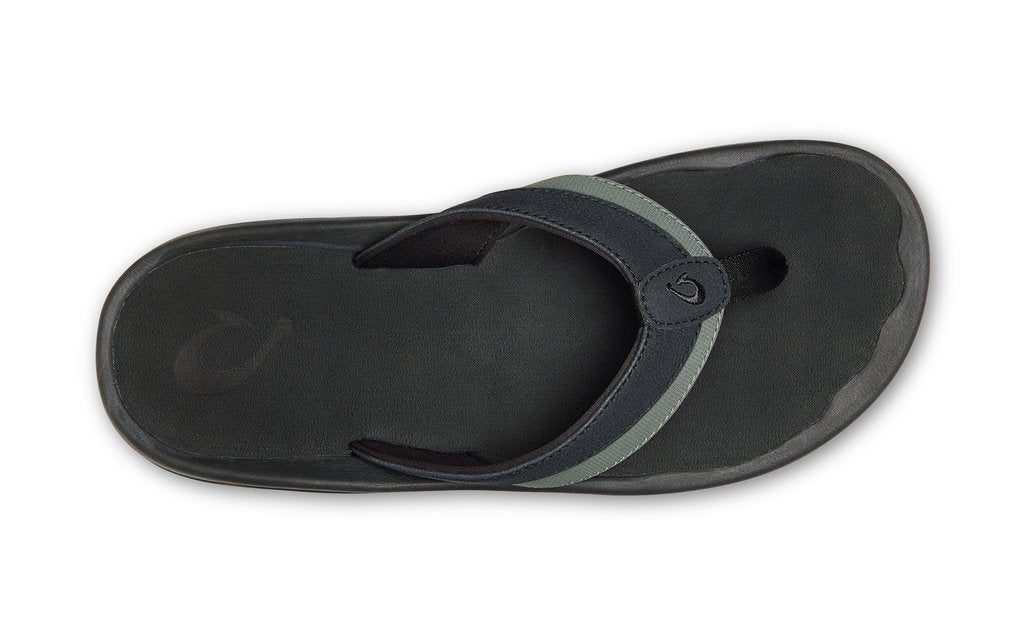 Olukai 'Ohana Koa Lave Rock Men's Beach Sandals