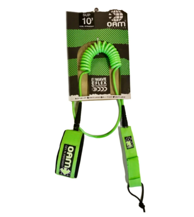 OAM 10' Straight Coil SUP Leash
