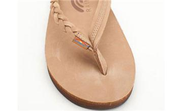 Rainbow Sandals Flirty Braidy - Single Layer Premier Leather with Arch Support with a Braided Strap (Womens)