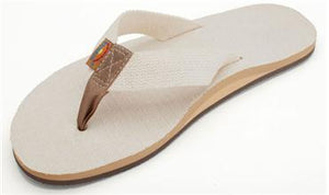 Rainbow Sandals (Mens) Single Layer Hemp Top and Strap with Arch Support