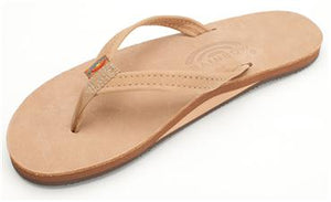 Rainbow Sandals (Womens) - Single Layer Premier Leather with Arch Support and a Narrow Strap