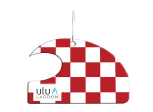 Ulu Lagoon Red/White Check Mini Wave Air Freshener (Coconut Surf Wax Scent)