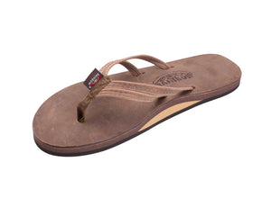 "Rainbow Sandals The Sandpiper (Women's) - Luxury Leather Single Layer Arch Support with a Double Narrow 1/3"" Strap"