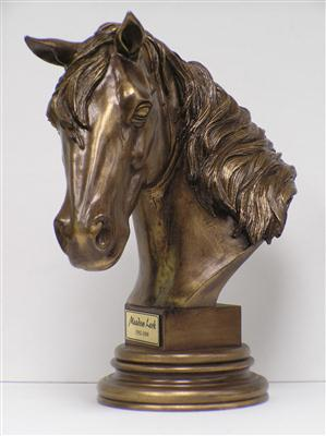Bronze Bust Horse Cremation Keepsake Urn