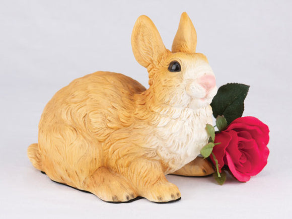 Companion Brown and White Bunny Rabbit Urn