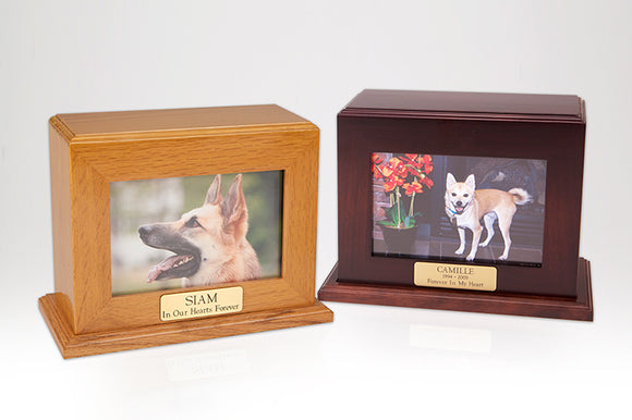 Framed Photo Pet Cremation Urns Horizontal