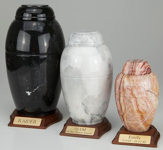 Marble Vase Pet Cremation Urns