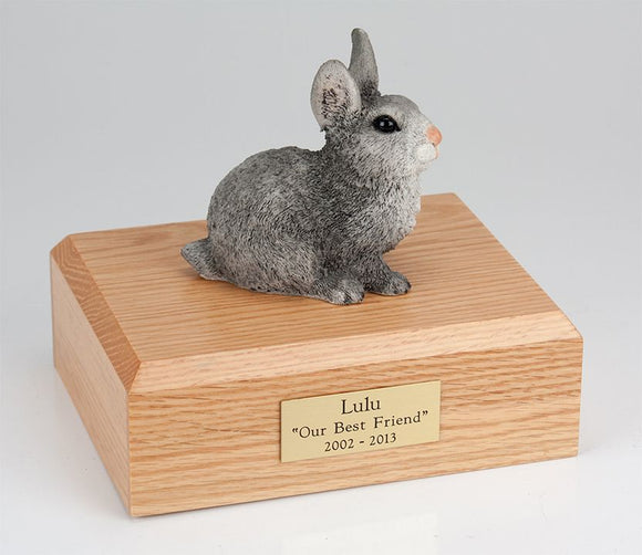 Grey Bunny Rabbit Pet Cremation Urn