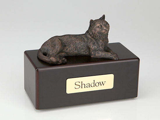 Economy Bronze Tabby Cat Pet Urn