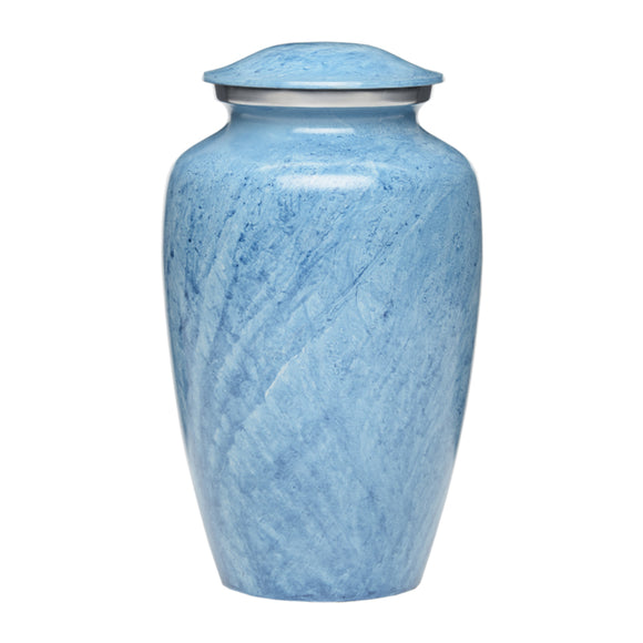 Beautiful Blue Adult Cremation Urn With Engraving
