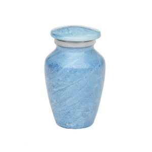 Beautiful Blue Keepsake Urn With Box