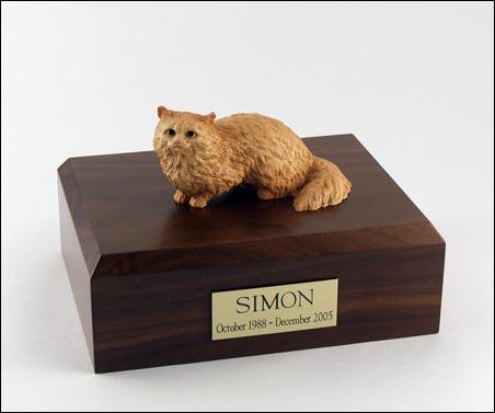 Cat Angora Sitting (Brown) Figurine Cremation Urn