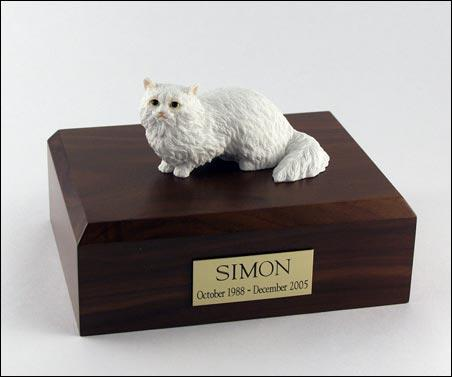 Cat Angora (White) Figurine Cat Urn