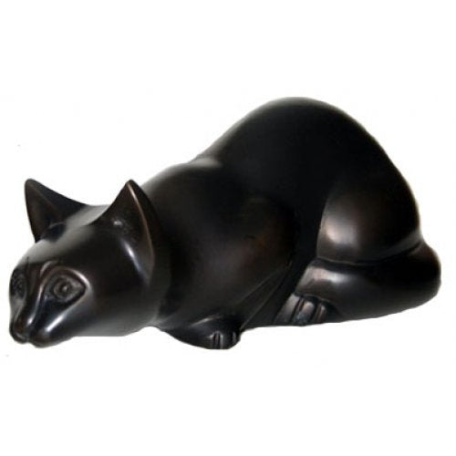 Antiqued Brass Pouncing Cat Urn Ever My Pet