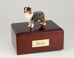Australian Sheepdog (Blue/docked) - Figurine Urn