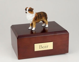 Australian Sheepdog (Brown & White) Figurine Urn